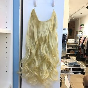 """24"""" Fish line band halo hair extension"""